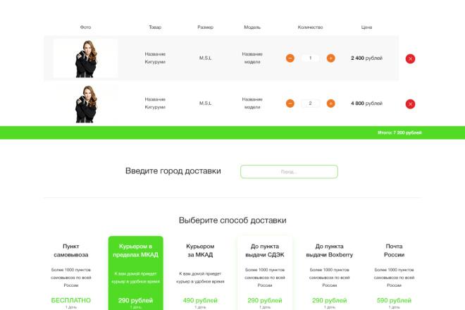 Дизайн для страницы сайта 27 - kwork.ru