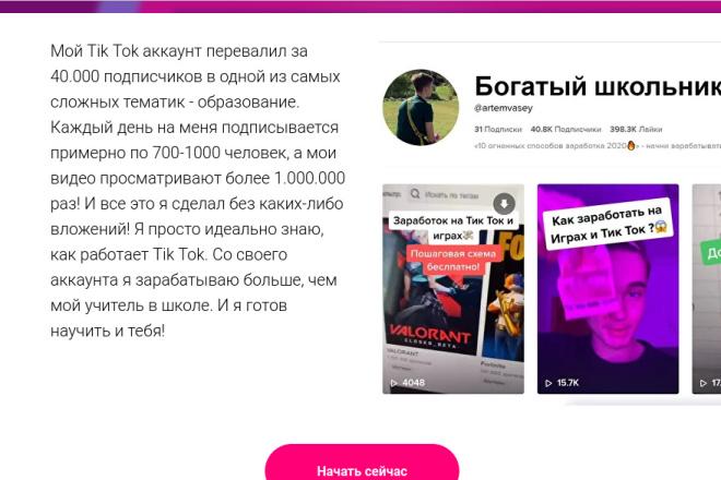 Скопирую страницу любой landing page с установкой панели управления 20 - kwork.ru