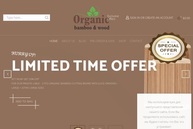 Сайт на wordpress + бонус премиум тема, шаблон, landing page 3 - kwork.ru