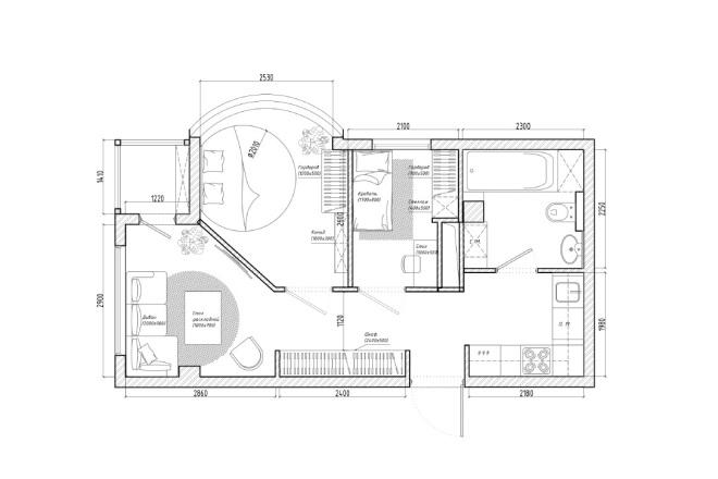 Планировочное решение вашего дома, квартиры, или офиса 17 - kwork.ru