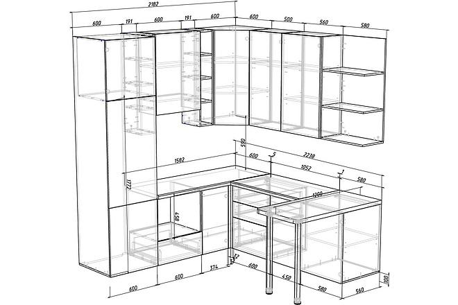 Конструкторская документация для изготовления мебели 86 - kwork.ru
