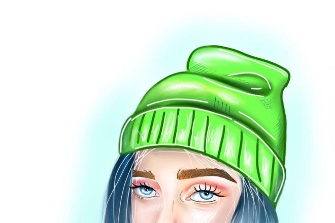 Рисование портретов в мультяшном стиле 1 - kwork.ru