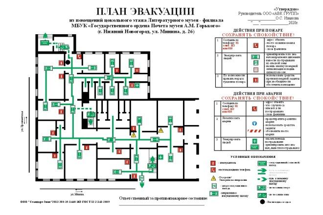 Начерчу план эвакуации, план помещения 1 - kwork.ru