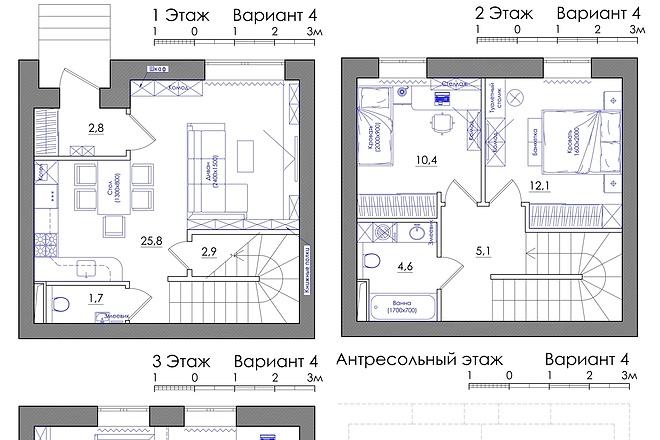 Планировка квартиры или жилого дома, перепланировка и визуализация 28 - kwork.ru
