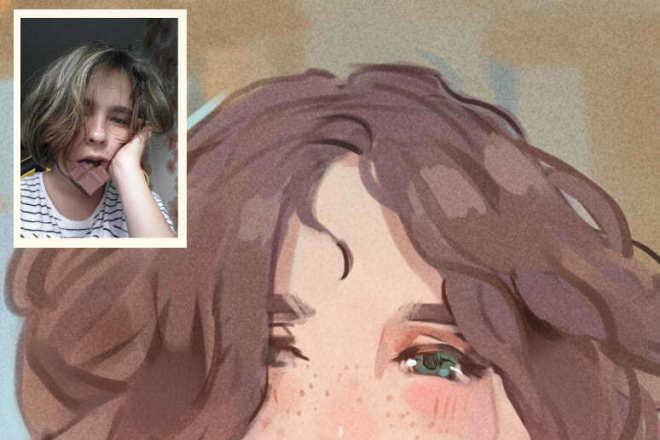 Создам ваш портрет в стиле аниме 3 - kwork.ru