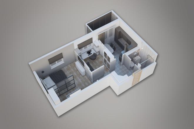Сделаю 3д визуализацию плана для дома, квартиры 5 - kwork.ru