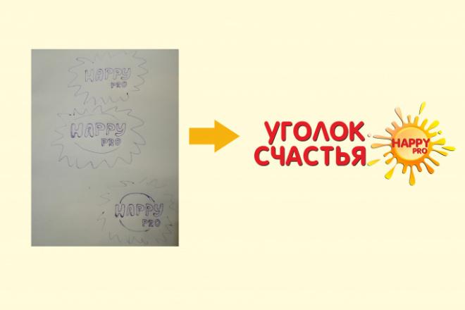 Нарисую логотип по вашему эскизу или рисунку. Быстро и качественно 4 - kwork.ru