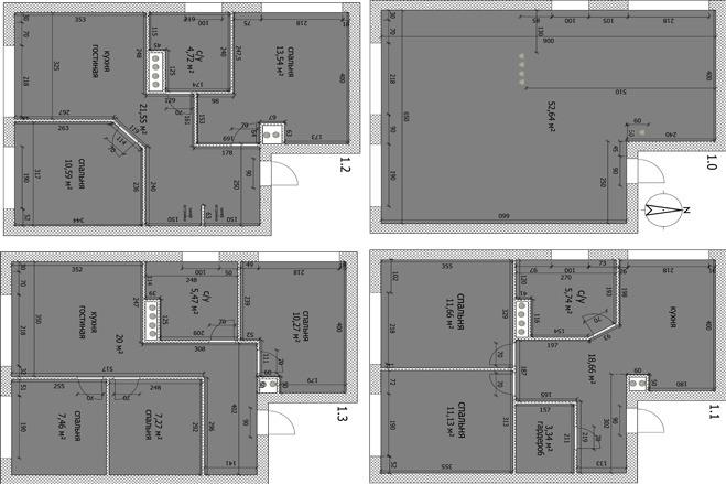 Интересные планировки квартир 25 - kwork.ru