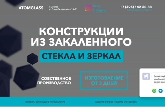 Копия лендинга, рабочие формы + админка 1 - kwork.ru