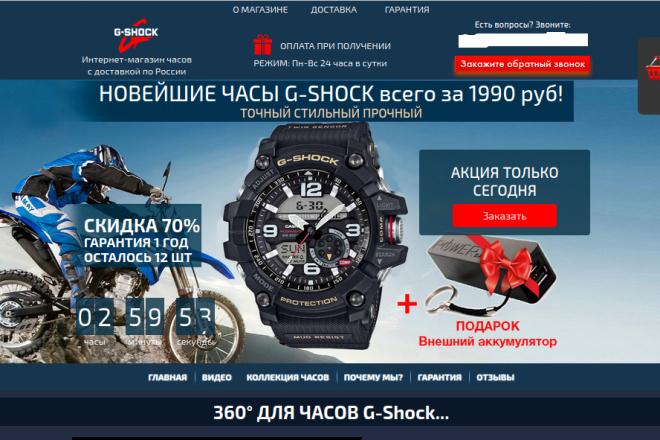 Скопирую страницу любой landing page с установкой панели управления 46 - kwork.ru