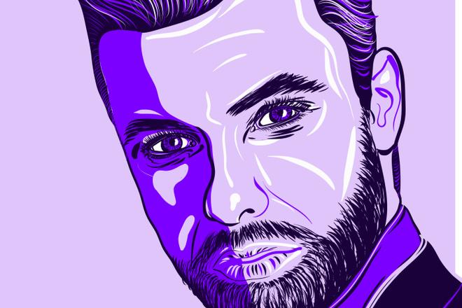 Портрет в стиле Поп - Арт векторный 8 - kwork.ru