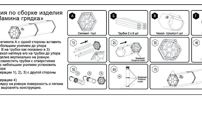Схема, инструкция сборки мебели 25 - kwork.ru