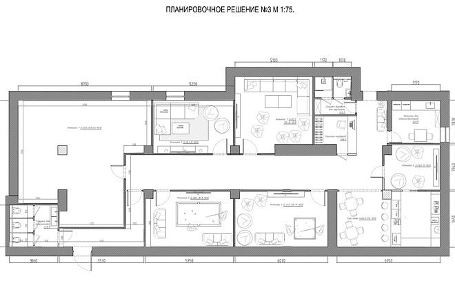 Планировочное решение вашего дома, квартиры, или офиса 28 - kwork.ru