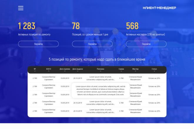 Дизайн для страницы сайта 33 - kwork.ru