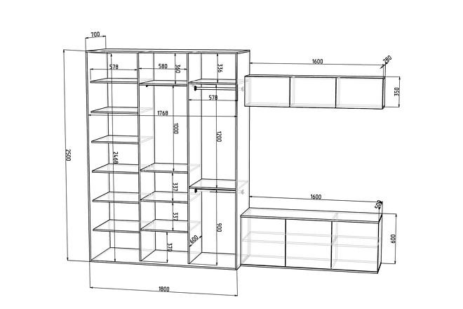 Конструкторская документация для изготовления мебели 121 - kwork.ru