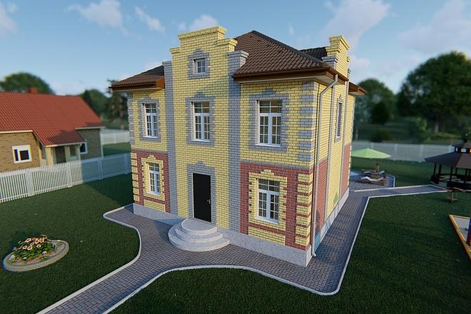 Фотореалистичная 3D визуализация экстерьера Вашего дома 166 - kwork.ru