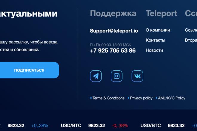 Вёрстка сайтов по доступной цене 8 - kwork.ru
