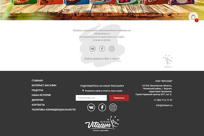 Верстка страницы сайта по макету 2 - kwork.ru