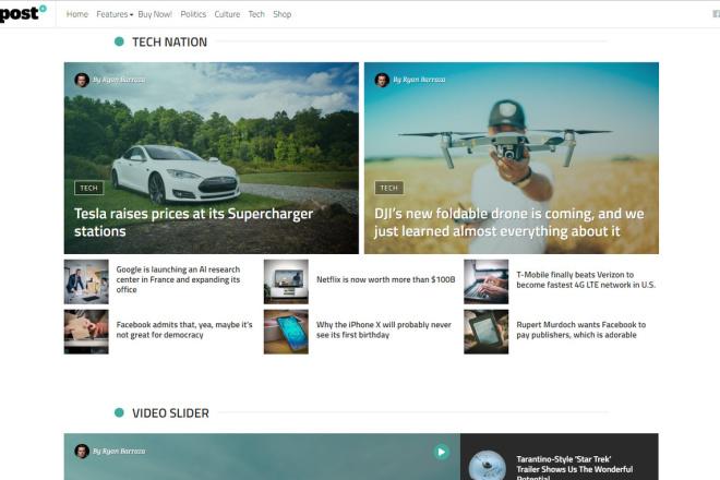StuffPost - Премиум шаблон ВордПресс новостного портала, газеты, СМИ 2 - kwork.ru