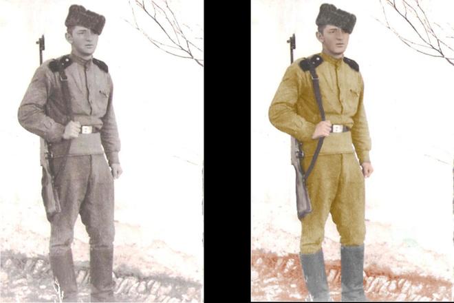 Восстановление старых фото, цветокоррекция, яркость, контрастность 4 - kwork.ru