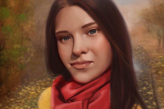 Рисую цифровые портреты по фото 2 - kwork.ru