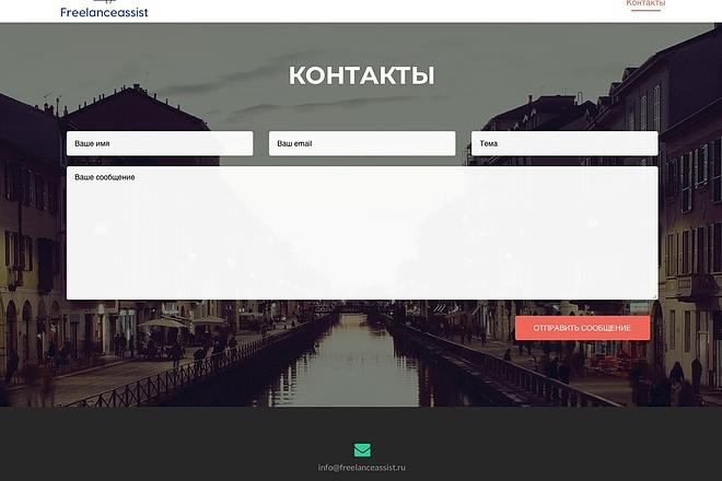 Создание одностраничника на Wordpress 55 - kwork.ru