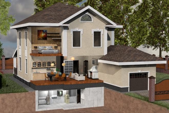 Создам планировку дома, квартиры с мебелью 58 - kwork.ru