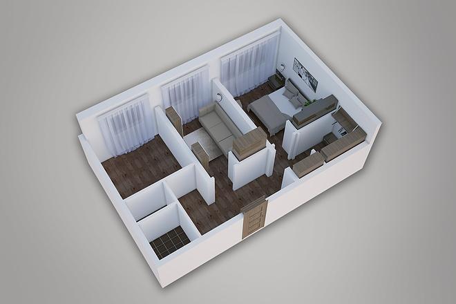 Сделаю 3д визуализацию плана для дома, квартиры 7 - kwork.ru