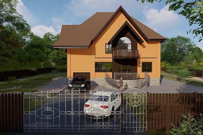 Фотореалистичная 3D визуализация экстерьера Вашего дома 155 - kwork.ru