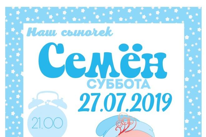 Сделаю макет плаката 4 - kwork.ru