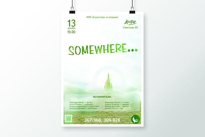Разработаю дизайна постера, плаката, афиши 28 - kwork.ru
