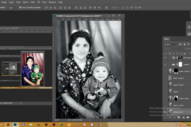Реставрация фотографии, из чб в цветной, коррекция, восстановление 4 - kwork.ru