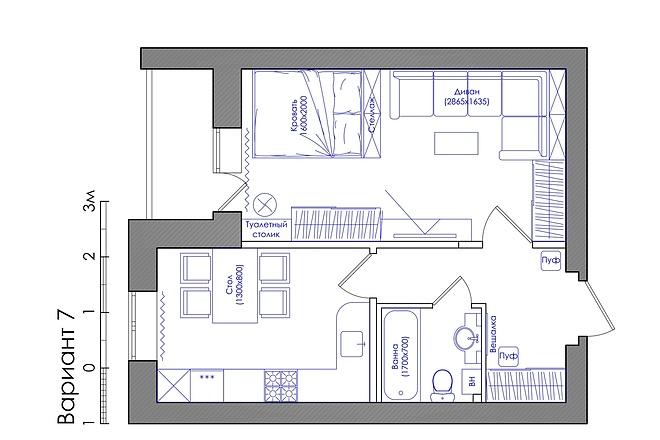Планировка квартиры или жилого дома, перепланировка и визуализация 15 - kwork.ru