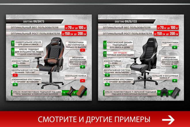 Баннер, который продаст. Креатив для соцсетей и сайтов. Идеи + 64 - kwork.ru