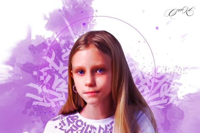 Качественный Digital Art Портрет 8 - kwork.ru