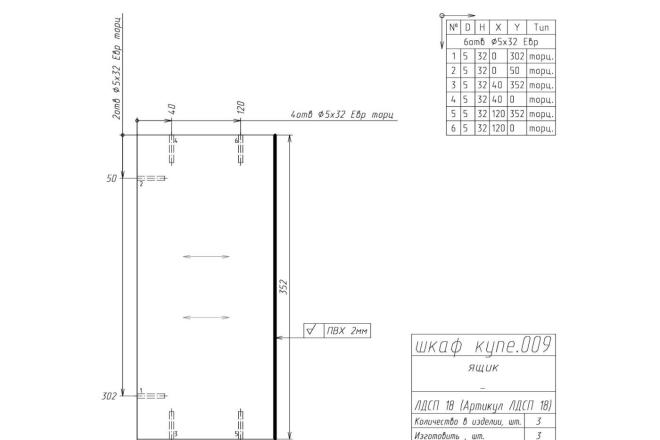 Конструкторская документация для изготовления мебели 25 - kwork.ru