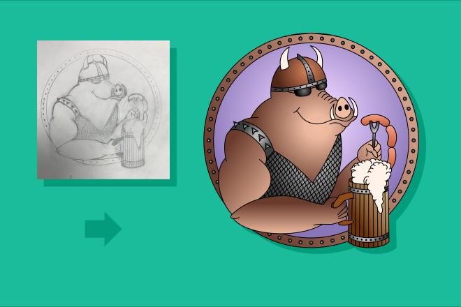 Преобразую в вектор растровое изображение любой сложности 48 - kwork.ru