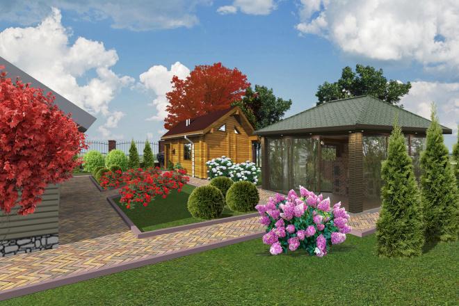 Проект ландшафтного дизайна участка 7 - kwork.ru