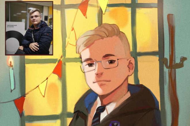 Создам ваш портрет в стиле аниме 6 - kwork.ru