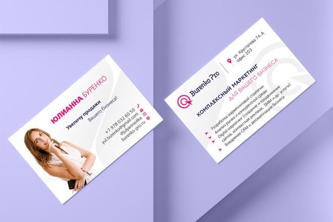 Дизайн визитки с исходниками 71 - kwork.ru