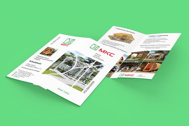 Дизайн двухсторонней листовки с исходниками 29 - kwork.ru