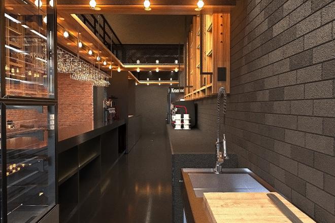 Создам визуализацию дизайна кафе, бара, шаурмечной 1 - kwork.ru