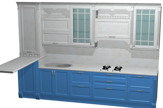 Проект корпусной мебели, кухни. Визуализация мебели 36 - kwork.ru