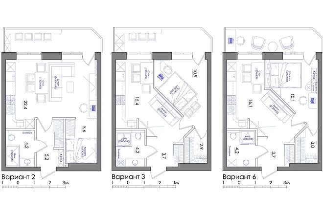 Планировка квартиры или жилого дома, перепланировка и визуализация 36 - kwork.ru
