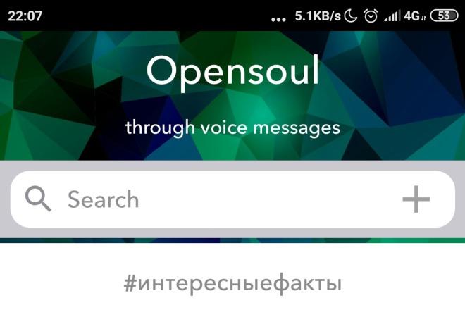 OpenSoul - первая голосовая социальная сеть, Android версия 1 - kwork.ru