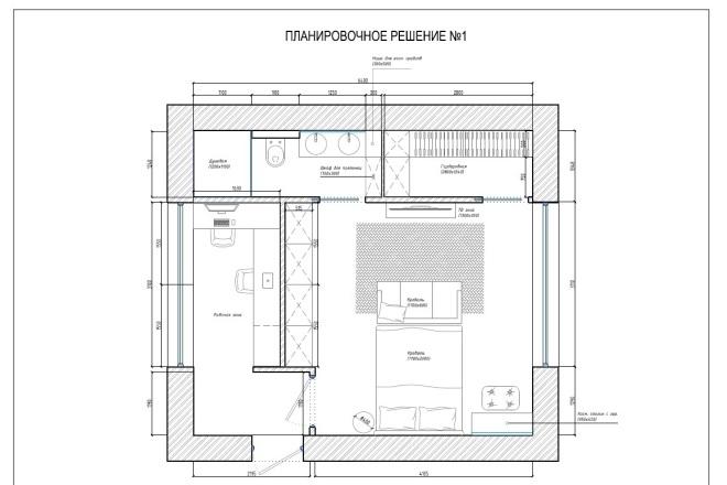 Планировочное решение вашего дома, квартиры, или офиса 1 - kwork.ru
