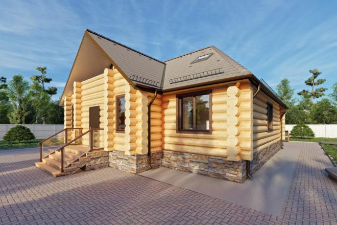 Фотореалистичная 3D визуализация экстерьера Вашего дома 92 - kwork.ru