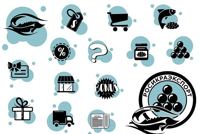 Создам иконки для сайта, приложения 1 - kwork.ru