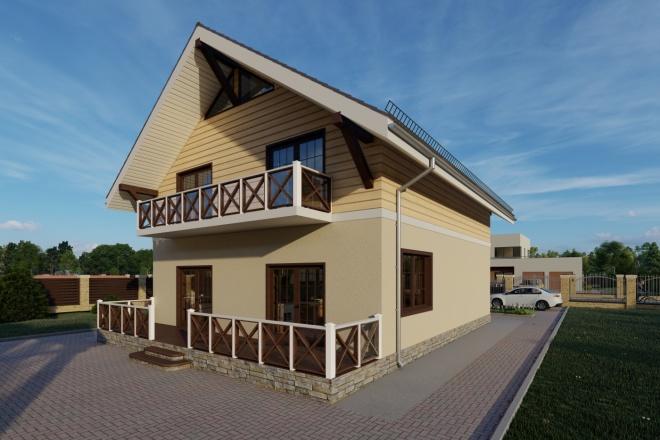 Фотореалистичная 3D визуализация экстерьера Вашего дома 112 - kwork.ru