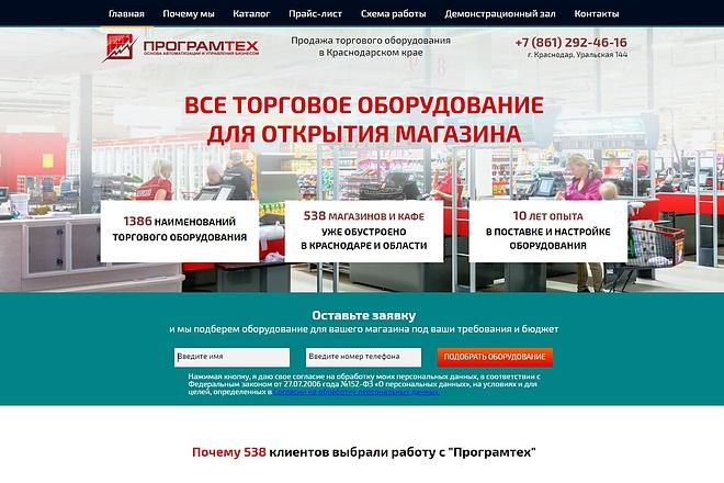 Скопирую Landing Page, Одностраничный сайт 89 - kwork.ru